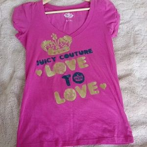 Juicy Couture Large Top Pink Love to Love